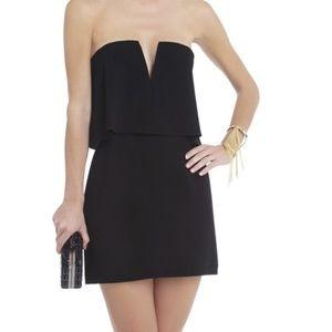 Black bcbg overlay dress mini